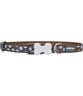 Dog Collar Blue Spots on Brown