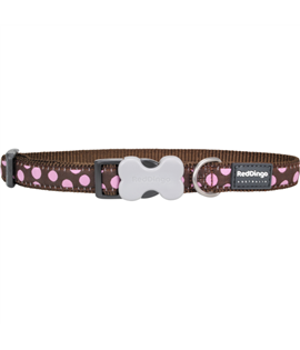Dog Collar Pink Spots on Brown