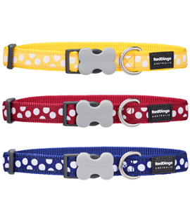 Dog Collar White Spots on Navy