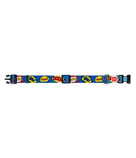 Dog Collar WAUDOG Nylon with pattern - Wow