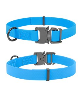 Dog Collar WAUDOG Waterproof,  fastex buckle. Blue