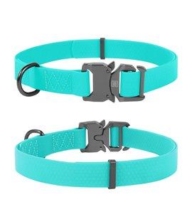 Dog Collar WAUDOG Waterproof, fastex buckle. Glow in the dark