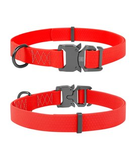 Dog Collar WAUDOG Waterproof, soft and durable, fastex buckle. RED