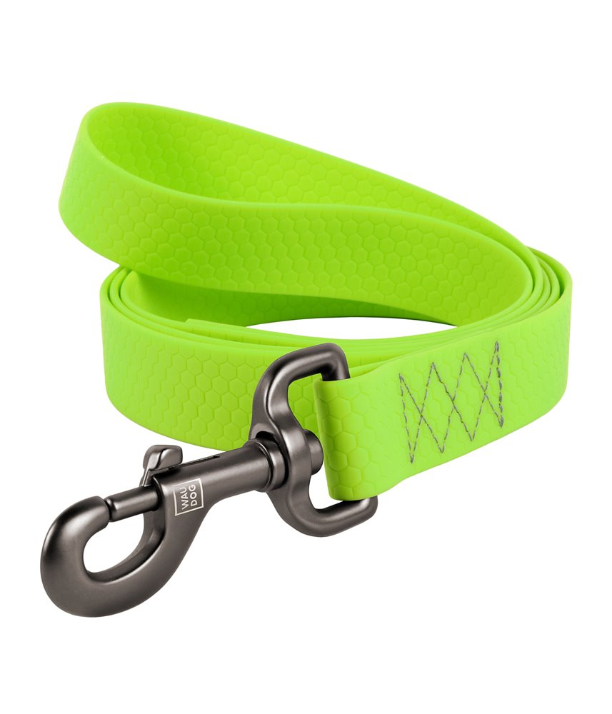 Dog Lead WAUDOG Waterproof, soft and durable. LIME GREEN