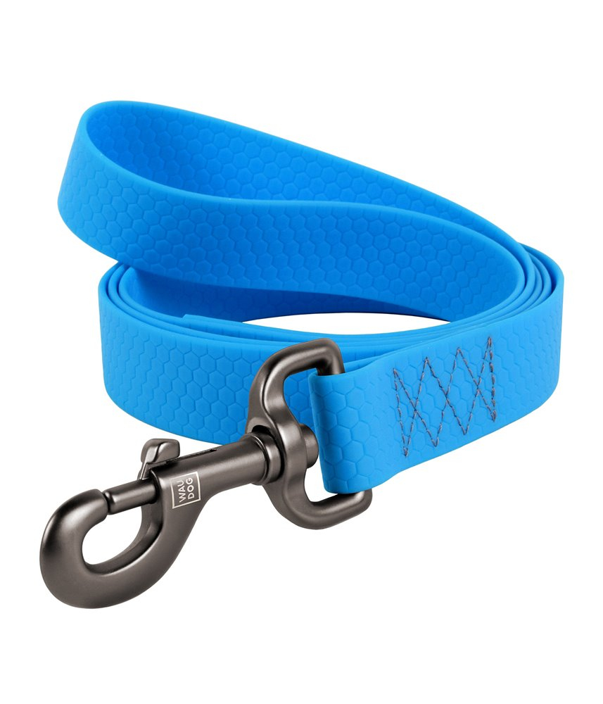 Dog Lead WAUDOG Waterproof, soft and durable. BLUE