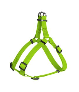 Harness WAUDOG Waterproof, soft and durable, metal hardware. LIME GREEN