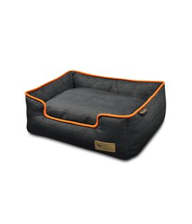Denim Lounge Bed - Orange (Mandarin)