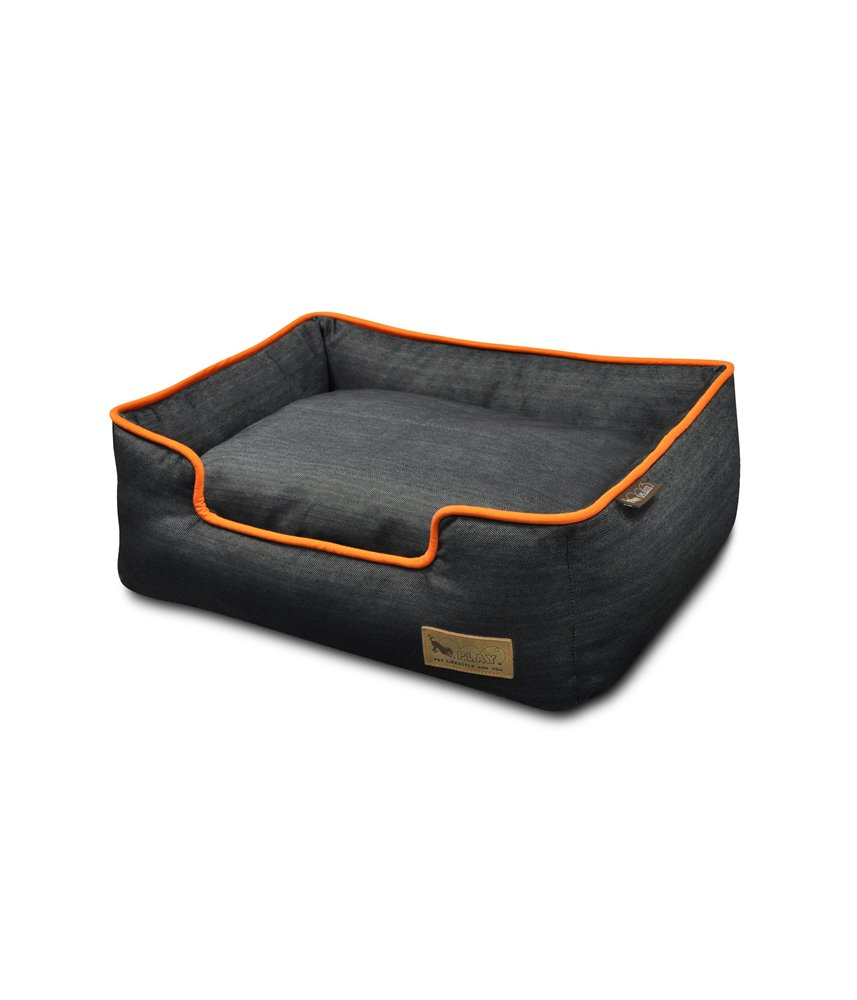 Denim Lounge Bed - Orange (Mandarin)