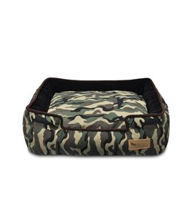 Camouflage Lounge Bed - Army Green