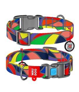 Dog Collar WAUDOG Nylon with pattern- Vitrage