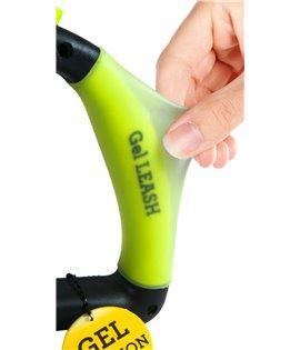 Gel Handle Reflective Tape Retractable Leash Yellow