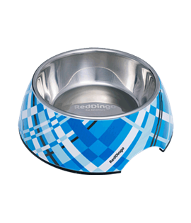 2-in-1 Dog Bowl Flanno Turquoise